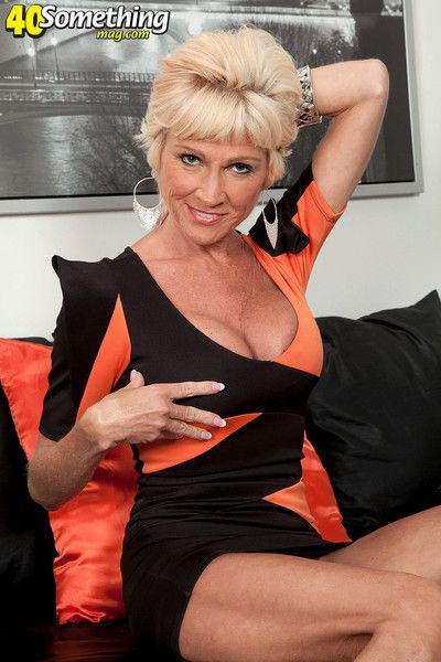 Crabby blonde mature lady be prepared cock