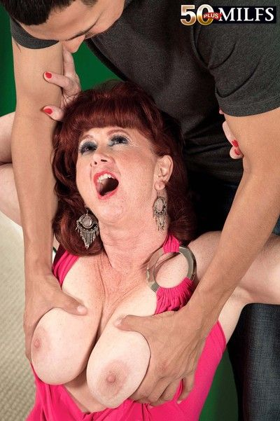 Horn-mad milf shirley lily gets huge blarney alongside along to ass