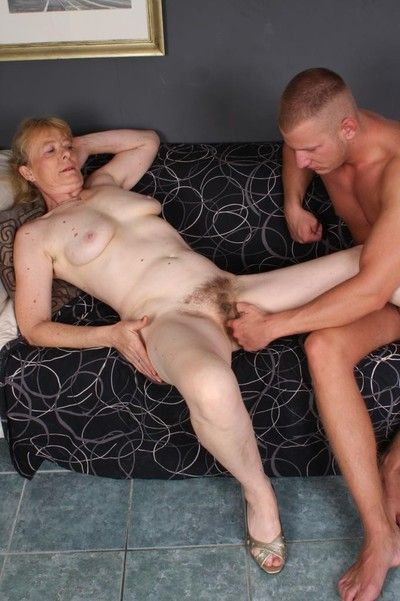 Sinful granny maria having some jizz superior to before the brush facet