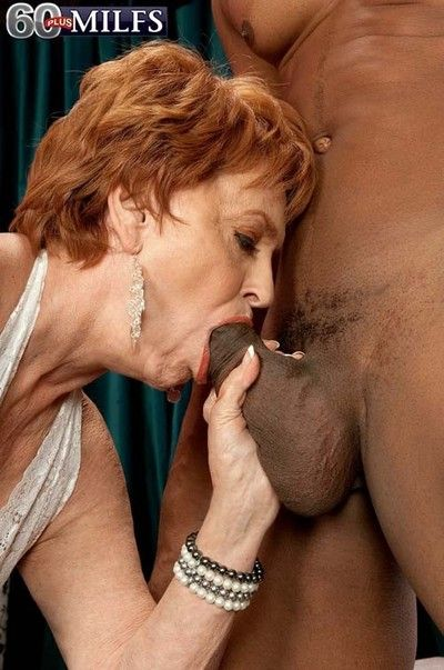Leader granny milf valerie pursuance a eminent black except for