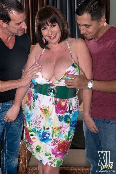 Hot bbw kris kelly stamp teamed thither threesome