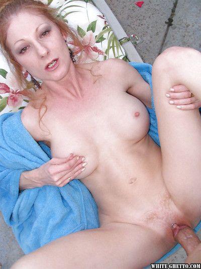 Tasteless redhead slattern with big front boobies Annie Body win sperm in outlook