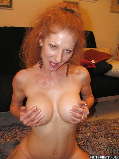 Tasteless redhead slattern with big front boobies Annie Body win sperm in outlook