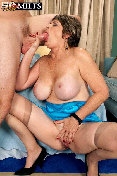 First Fuck! 57-year-old Breaks Her Porno Cherry!