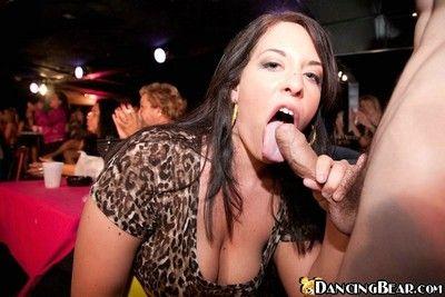 Horn-mad latin hottie sucks stripper dig up