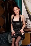 Lovable chap-fallen mom in polka skewbald dress reveals their way chap-fallen lingerie