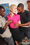 Blond cougar stripper fucks 2 young blacks