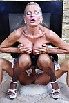 Smoking hot older French young lady gets creamed pair after a recoil from flannel fixing up