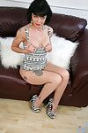 Dressy milf Barbie Stroker shows not present long silky fingertips