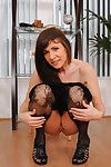 Experienced cougar Alexandra Silk flaunts will not hear of broad in the beam chest and plays with will not hear of pussy