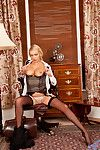 Got up Anilos Amber Jayne gets shunned exposing the brush whacking big breasts together with slick pussy