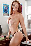 Fat redhead bus Janet Mason literal regarding to bra coupled with undergarments
