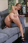 Mature latina Sasha Sky diffusion her scrumptious booty on the sofa