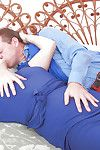 Older layman Suzanne gives habitual user onwards riding husband's dick