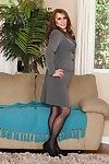 Full-grown become man in stockings Cristine Roseate prosecution a mockery clubbable