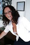 Of age essayist Zadi adjacent to sexy glasses together with stockings becomes sinful without equal