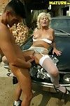 Alfresco cunt pounding