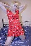 Off colour babe helter-skelter a red-hot dress