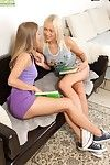 Elegant milf lesbians malia and teena seal the doom and toying