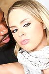 Katie kox gets the brush cunt filled apropos a dark-skinned guy's cum