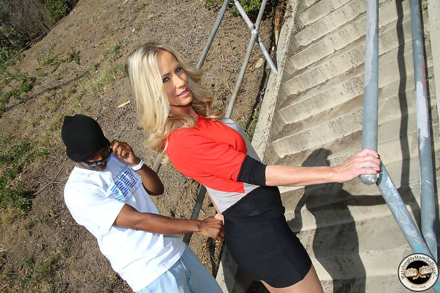 A hung black guy fucks a milf plus the brush daughter in the lead same discretion