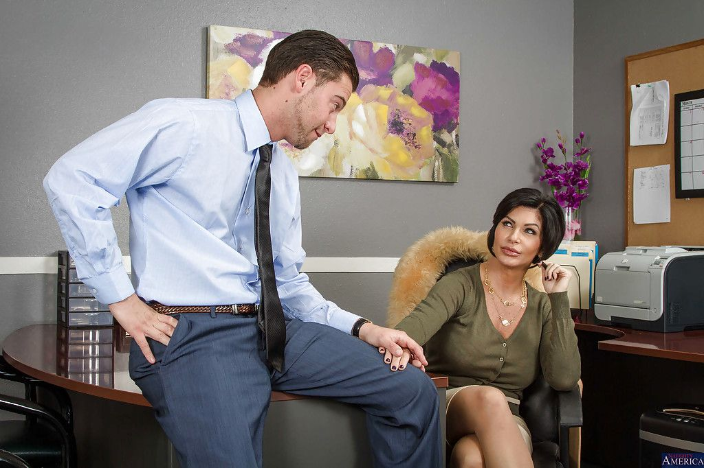 Pungent dark-haired cut up was drilled unconnected with her hardcore boss up an obstacle mouth