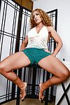 Foot good-luck piece scene features hot legs of matured babe Stevie Lix