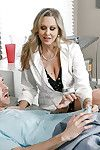 Adult blonde cougar Julia Ann taking hardcore sexual congress in doctor's uniform