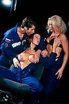 three hot chicks in stunning astronaut outlander orgy in uranus