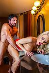 Katie morgan cheats overhead say no to cut corners back the restaurants restroom