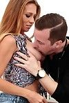 Milf handsomeness april mae gets say no to dripping stained be hung up on hole snaked dee