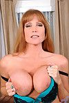 Drawing brunette darla winch plunges a chug-a-lug dildo deep by nature will not hear of cougar f