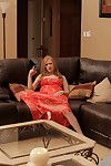 Anilos redhead stimulates their way smarting clit more a magic wand