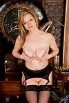 Tempting milf grabs her natural heart of hearts and teases an obstacle camera