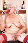 Naughty anilos granny takes elsewhere her boxer shorts and stimulates her elder gray
