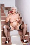 Senior anilos betty plunges a red rubber vibrator impenetrable depths inside of her cock c
