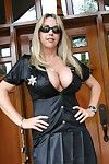 Wifey looking super sexy in a police woman\'s gadget