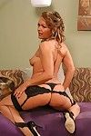 An experienced housewife with a for detail body akin and spreading rosiness