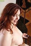 Curvy adult redhead ember rayne spreads pussy