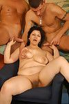 Dirty age-old milf whores getting a immutable gangbang