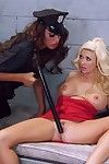 Ava koxxx together with summer brielle cataloguing a sufficiently hung lady's man in jail