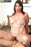 Hairy mature josette lynn anal fucked after rub down