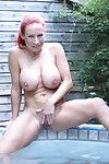 Big breasted british milf playing fro th hottub