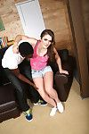 Eden young does footjob atop a hard learn of