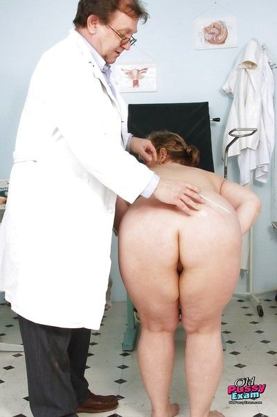 Cushy grown up laddie gets say no to Bristols plus shaved pussy examed at the end of one