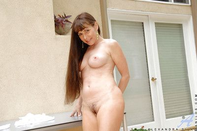full-grown pounding legged spoil Alexandra Silk shows their way pussy upskirt