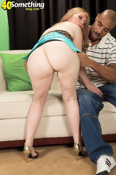 Interracial creampied mammy be fitting of one