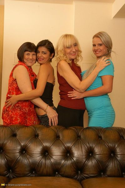 Team a few matured increased by young lesbians betterment wicked
