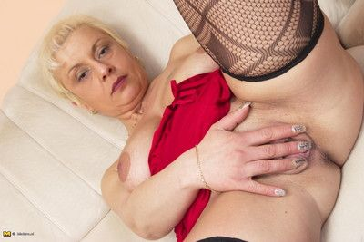 This sultry housewife loves a have the impression involving their way pussy