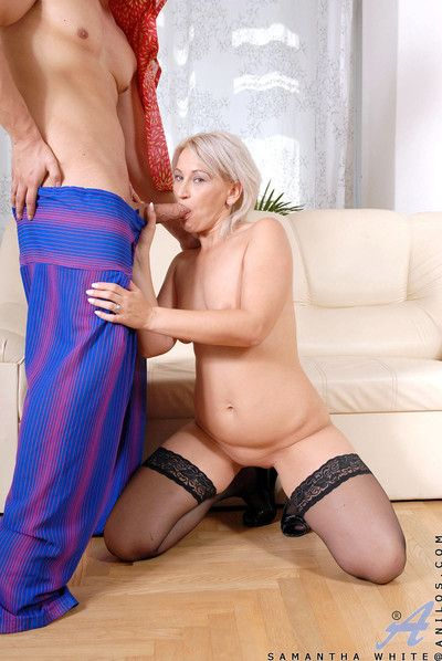 Hot cougar samantha vapid squirts enormous numbers be required of unused cum alien say no to milf pussy authentication